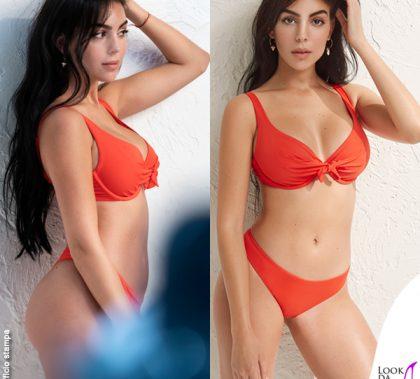 Georgina Rodriguez testimonial Yamamay bikini rosso Essential 2