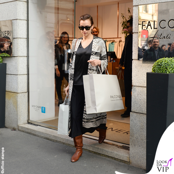 Irina Shayk shopping Falconeri