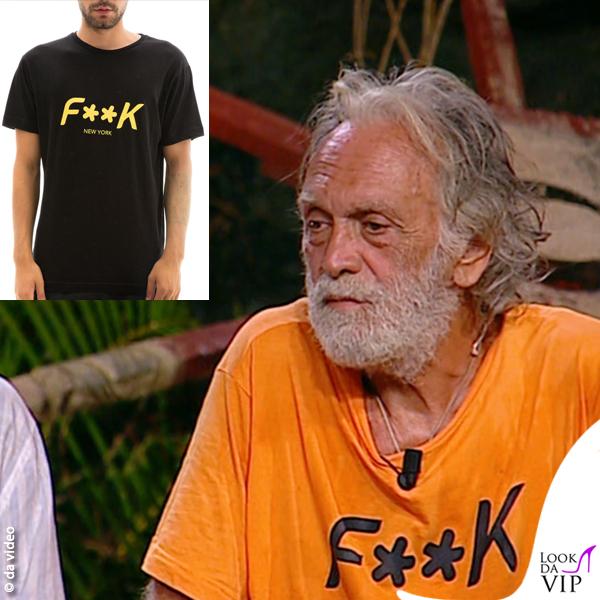 Isola 9 puntata Riccardo Fogli tshirt Effek