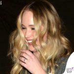 Jennifer Lawrence anello di fidanzamento