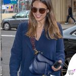 Jessica Alba borsa Saddle bag Dior