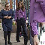Kate Middleton camicia Gucci Pussy dettagli
