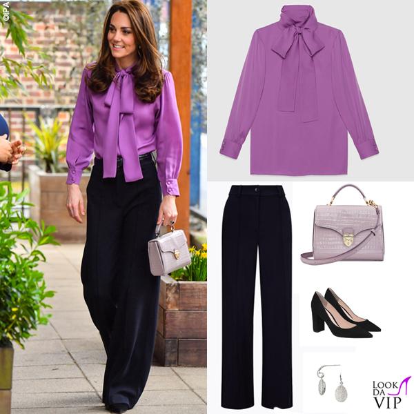 Kate Middleton camicia Gucci Pussy pantaloni Jigsaw borsa Aspinal of London 5