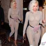 Khloe Kardashian outfit La Quan Smith marsupio Saddle Dior