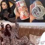 Kim Kardashian, una mazzetta come borsa