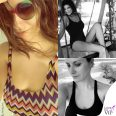 Laura Pausini beachwear Missoni occhiali Marco De Vincenzo costume Pierre Mantoux_