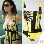 Laura Pausini costume Fausto Puglisi occhiali Dsquared2