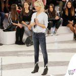 Maria De Filippi Amici 20190112 jeans sfrangiati stivaletti Rick Owens