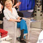 Maria De Filippi Amici 20190302 pantalini blu stivaletti Rick Owens