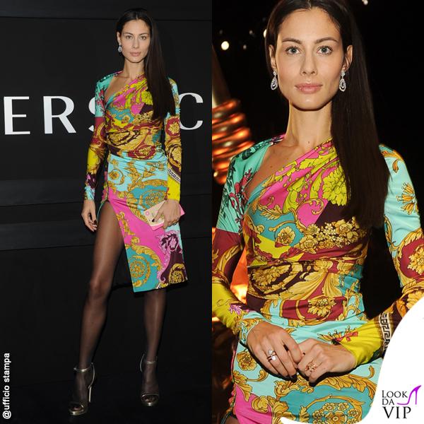 Marica Pellegrinelli abito Versace