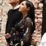 Meghan Markle abito Oscar de la Renta stivali Sarah Flint clutch Ralph Lauren orecchini Pippa