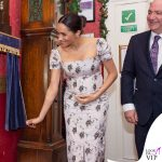 Meghan Markle cappotto Soia & Kyo abito Brock clutch Wilbur and Gussie anello Kismet by Milka