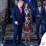 Melania Trump abito LK Bennett pump Manolo Blahnik
