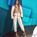 Melissa Satta abito Pinko sandali Giuseppe Zanotti