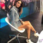 Melissa Satta outfit Diesel tronchetti Giuseppe Zanotti