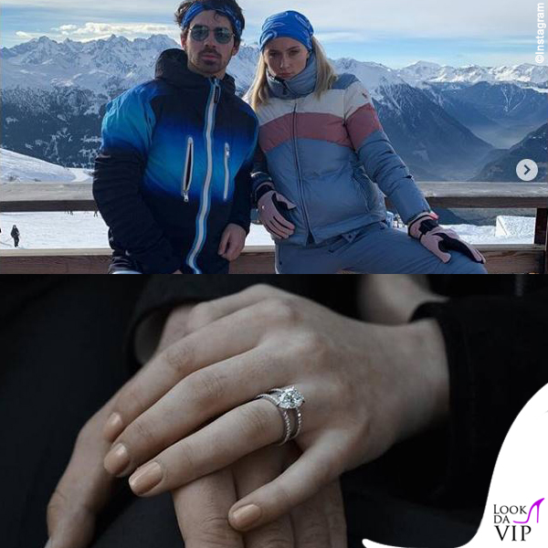 Sophie Turner anello di fidanzamento