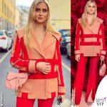 Valentina Ferragni outfit Blumarine borsa Saddle bag Dior