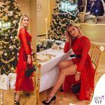 Valentina Ferragni vestito rosso borsa Saddle bag Dior