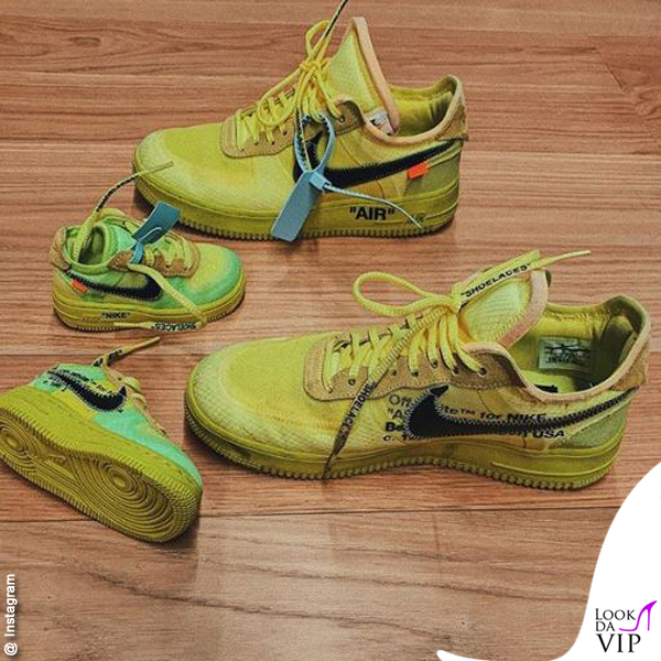 1 compleanno Leone Lucia Ferragni sneakers Off White x Nike