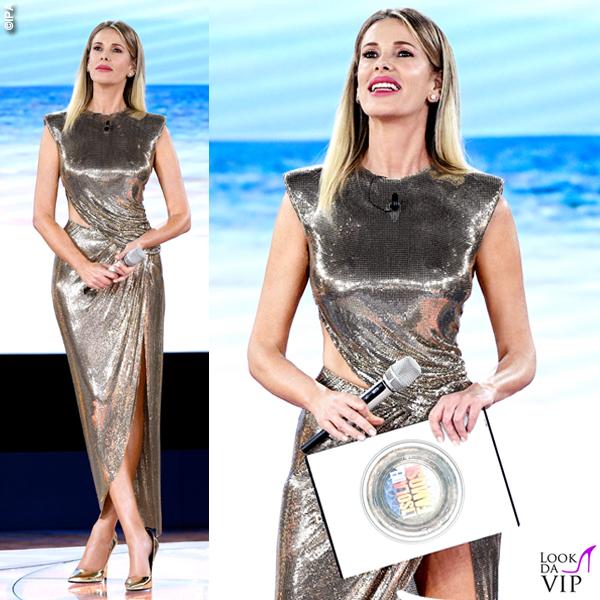 Alessia Marcuzzi Isola Finale vestito Versace 1
