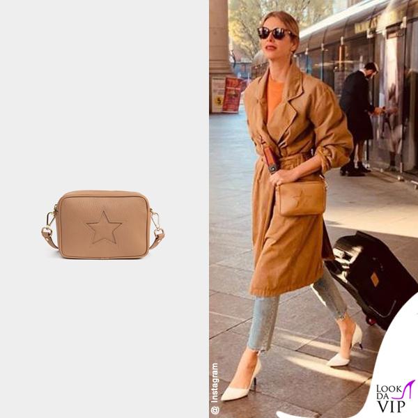 Alessia Marcuzzi borsa Marks&Angels Mini Gaia cappuccino