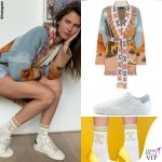 Bianca Balti giacca Alanui calze High Heel Jungle Socks sneakers Hide and Jack 4