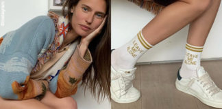 Bianca Balti giacca Alanui calze High Heel Jungle Socks sneakers Hide and Jack 6