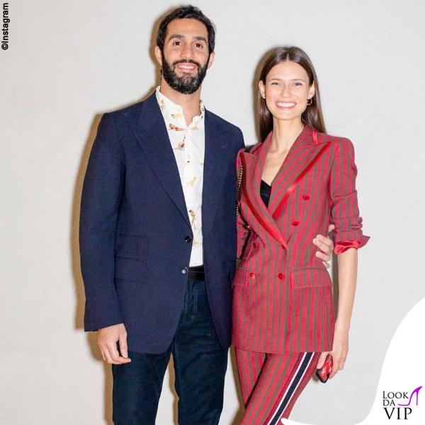 Bianca Balti outfit Dolce Gabbana e Sal Lahoud