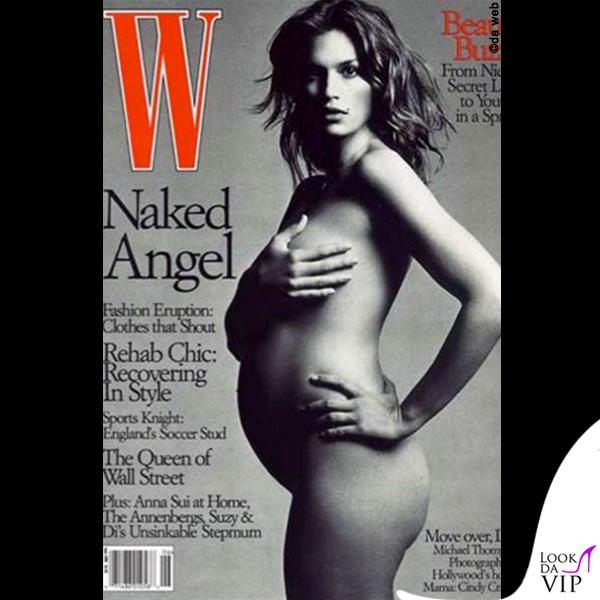 Cindy Crawford incinta W 1999