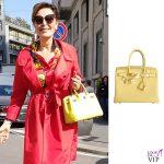 Daniela Santanche borsa Hermes Birkin jaune poussin