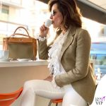 Daniela Santanche borsa Hermes Kelly barenia toile