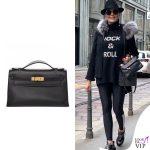 Daniela Santanche borsa Hermes Kelly pochette black