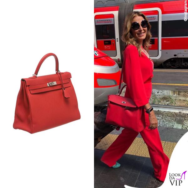 Daniela Santanche borsa Hermes Kelly vermillion