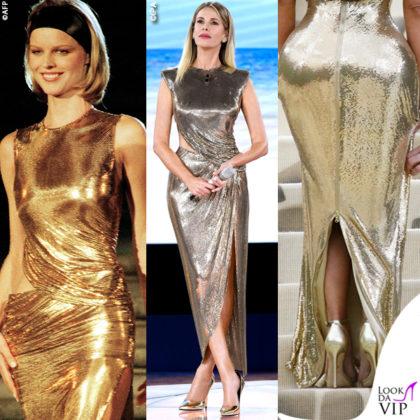 Eva Herzigova Alessia Marcuzzi Kim Kardashian abiti Versace