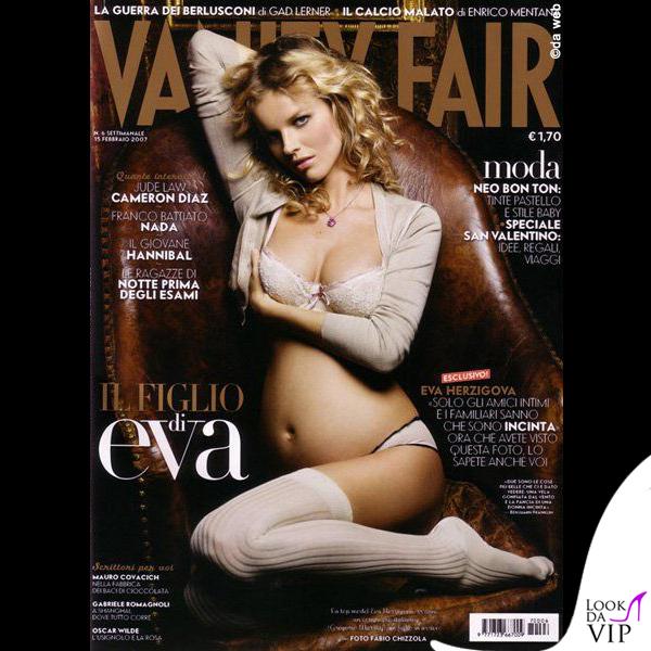 Eva Herzigova incinta Vanity Fair 2007