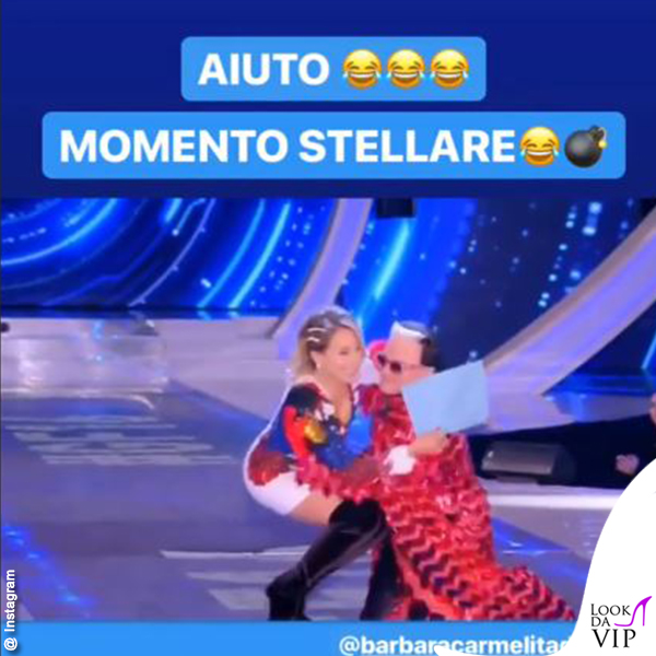 GF terza puntata Barbara d'Urso abito Balmain stivali Casadei Cristiano Malgioglio