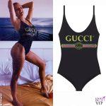 Giulia Provvedi costume intero Gucci