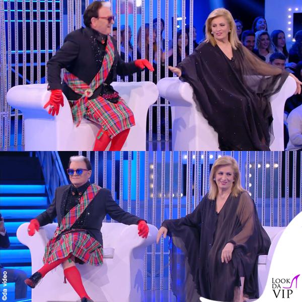 Grande Fratello prima puntata Barbara D'Urso Cristiano Malgioglio kilt 7