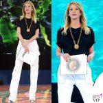 Isola undicesima Alessia Marcuzzi outfit Versace 2