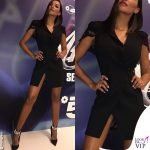 Juliana Moreira abito Elisabetta Franchi scarpe Le Silla