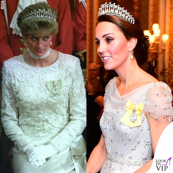 Kate Middleton The Queen Mary Tiara principessa Diana