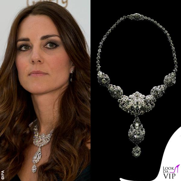 Kate Middleton collana Nizam of Hyderabad Cartier