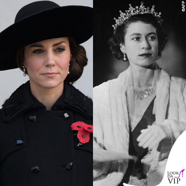 Kate Middleton orecchini regina Elisabetta 2016 2