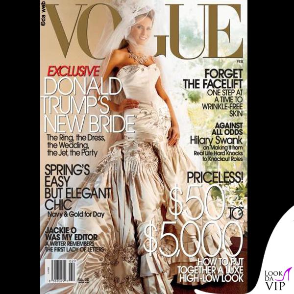 Melania Trump cover Vogue 2005 abito Dior John Galliano