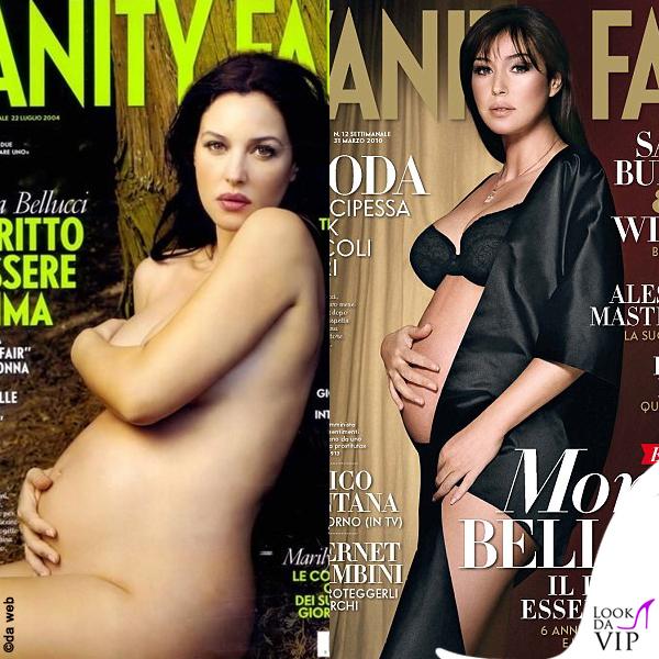 Monica Bellucci incinta Vanity Fair