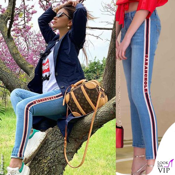Rosa Perrotta pantaloni Sarahchloe borsa Louis Vuitton scarpe Adidas
