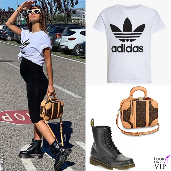 Rosa Perrotta tshirt Adidas scarpe DrMartens borsa Louis Vuitton