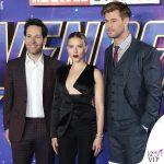 Scarlett Johansson Avengers Endgame Londra completo Tom Ford 9