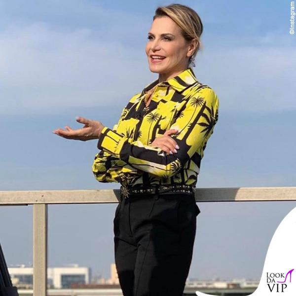 Simona Ventura camicia Fausto Puglisi