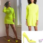 Ashley Graham abito ALC pump Stuart Weitzman 2
